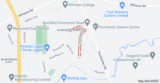 Location of Foxlaw Street