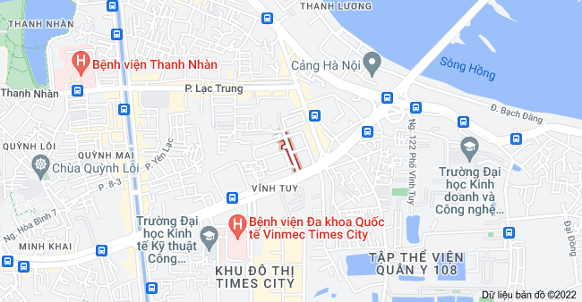 Bản đồ của Mạc Thị Bưởi, Vĩnh Tuy, Hai Bà Trưng, Hà Nội