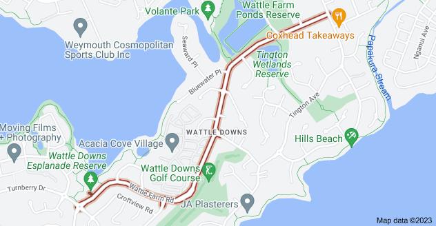 Location of Wattle Farm Road