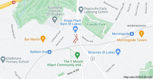 Location of Amandale Avenue