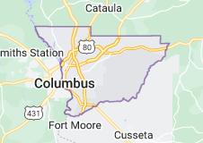 Map of Columbus, Georgia