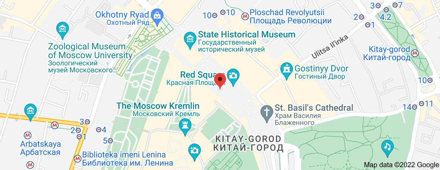 Location of Lenin's Mausoleum
