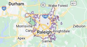 Map of Raleigh, North Carolina