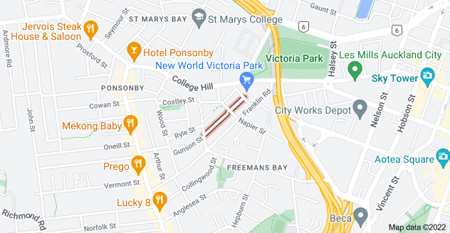 Location of Ireland Street