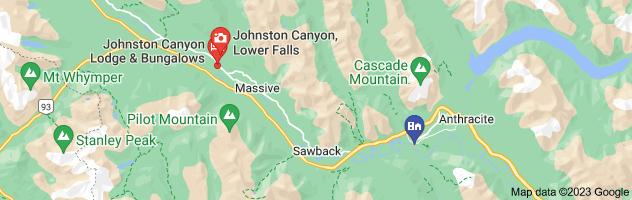 Map of johnston canyon banff