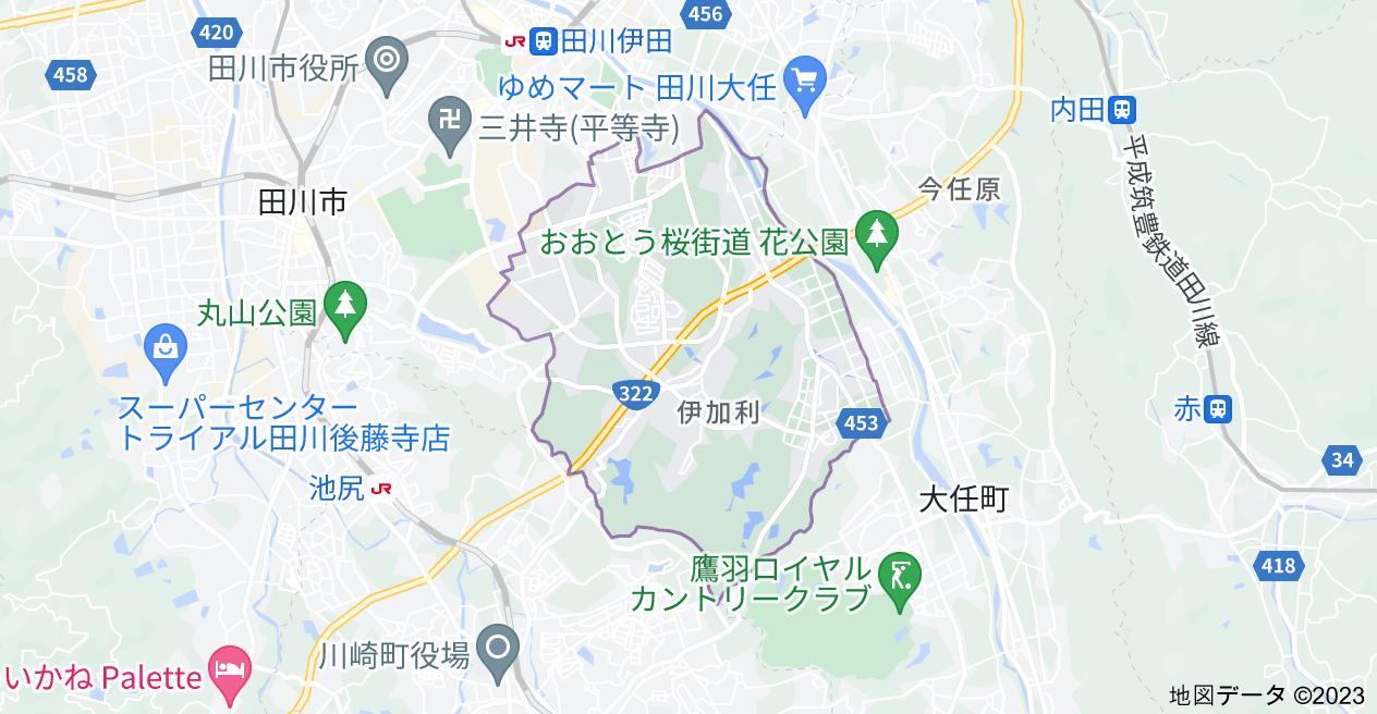 福岡県田川市大字伊加利の地図