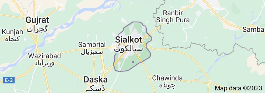 Map of Sialkot