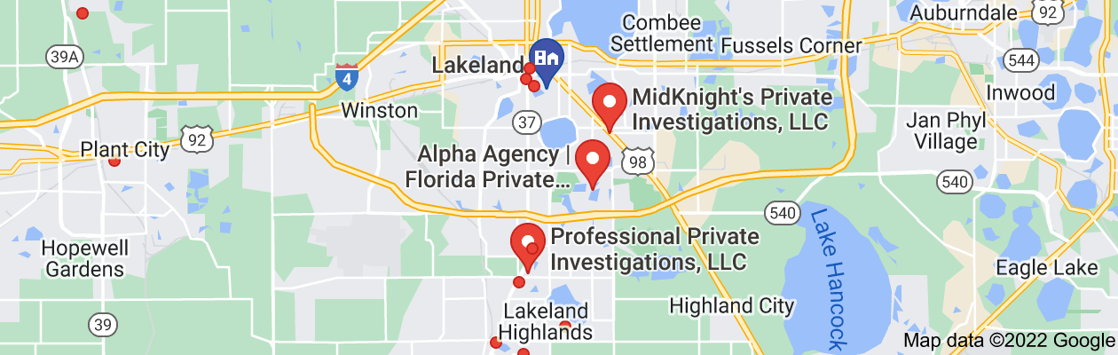 Map of private investigators lakeland florida