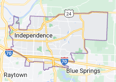 Map of Independence, Missouri