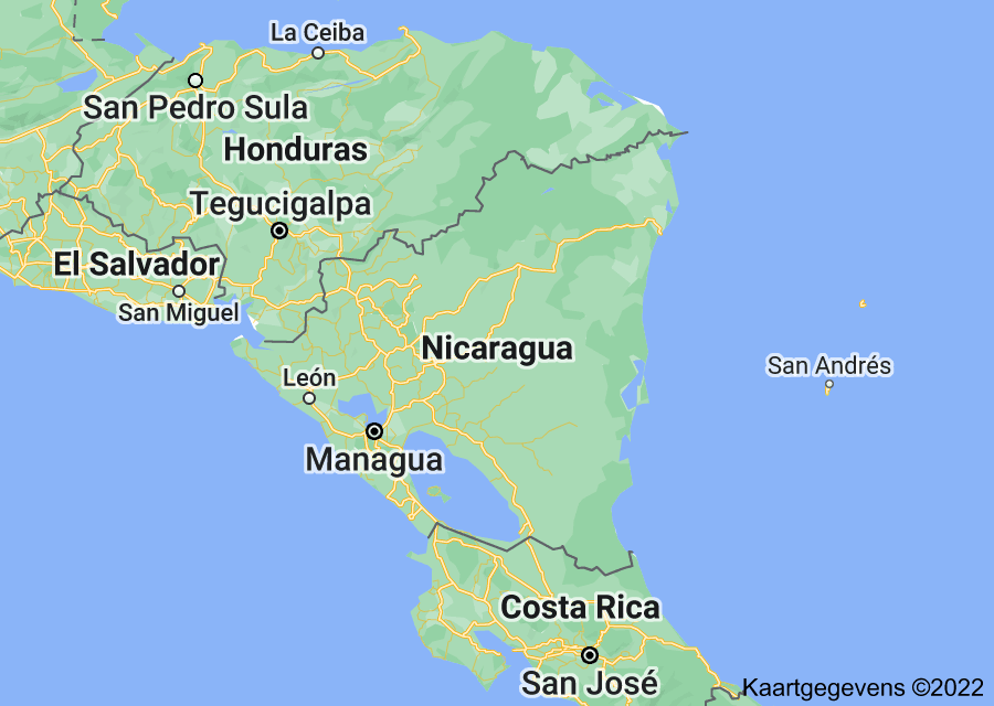 Location of Nicaragua