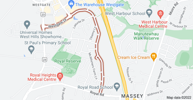 Location of Westgate Drive