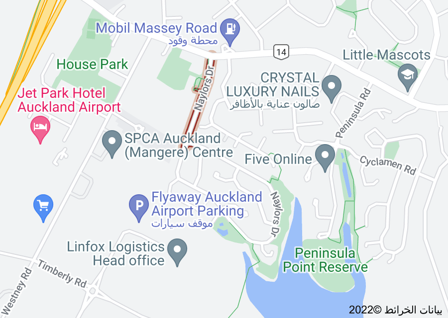 Location of Naylors Drive