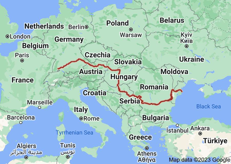 Location of Danube