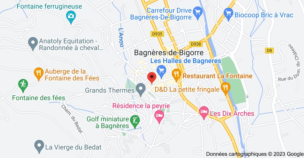 18 Rue des Thermes, 65200 Bagnères-de-Bigorre: carte