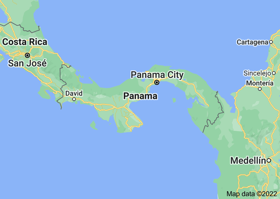 Location of Panama