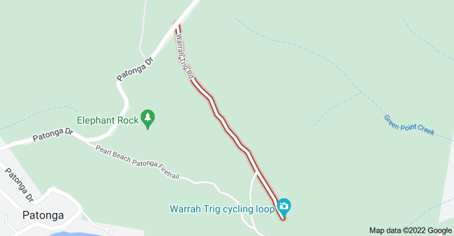 Map of Warrah Trig Rd, Patonga NSW 2256