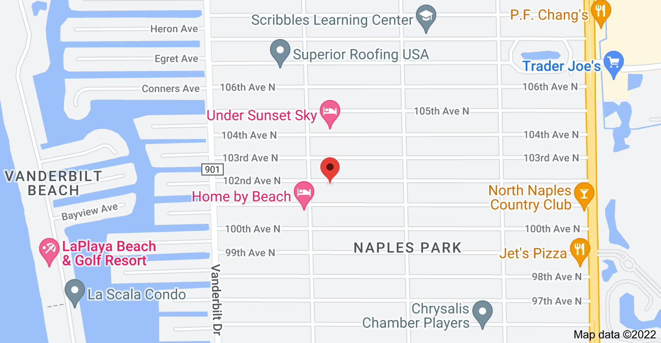 Map of 616 102nd Ave N, Naples, FL 34108