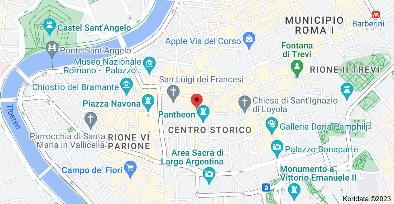 Kort over Piazza della Rotonda, 2, 00186 Roma RM, Italien