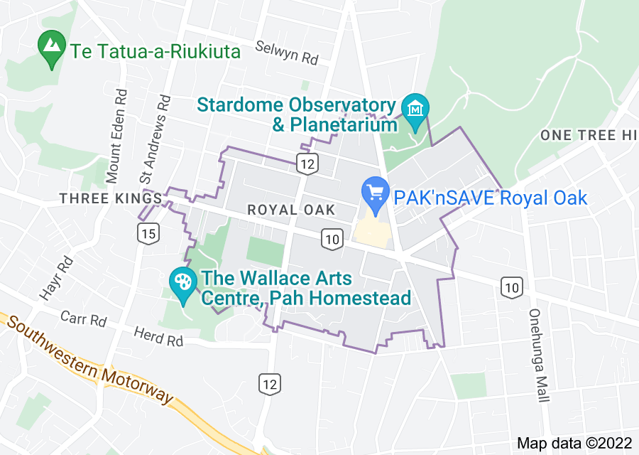 Location of Royal Oak, New Zealand
