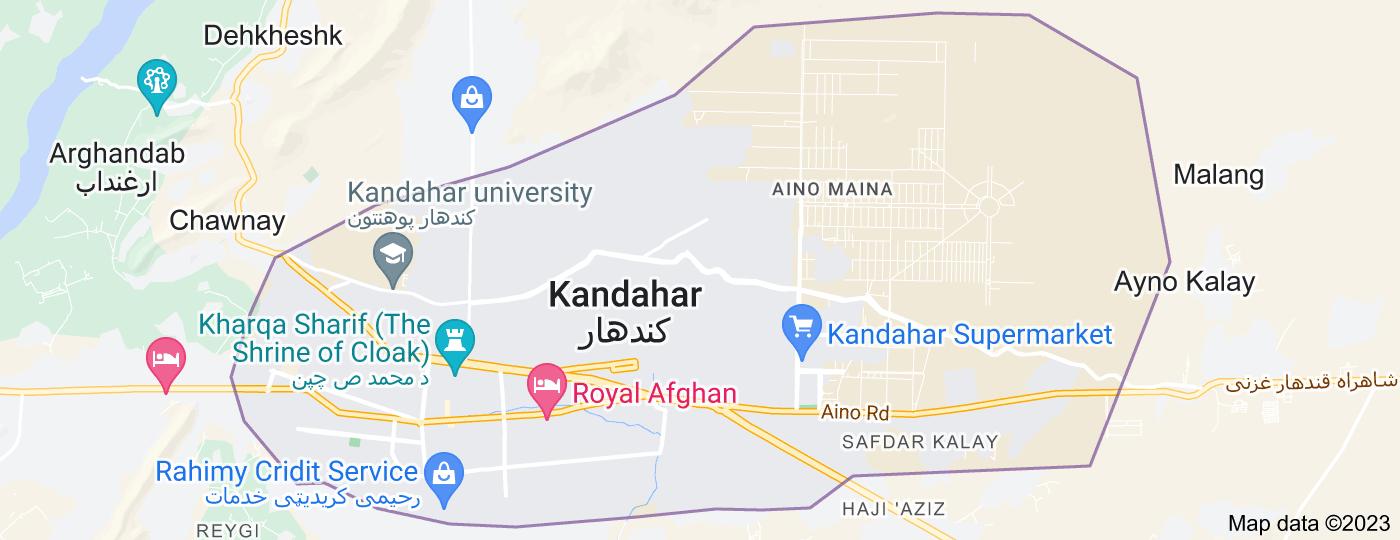 Location of Kandahar