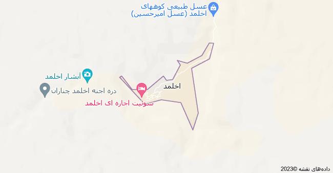 نقشه اخلمد، استان خراسان رضوی