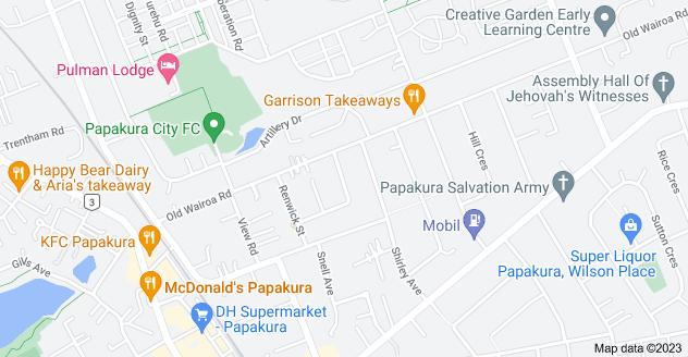 Location of Halberg Street