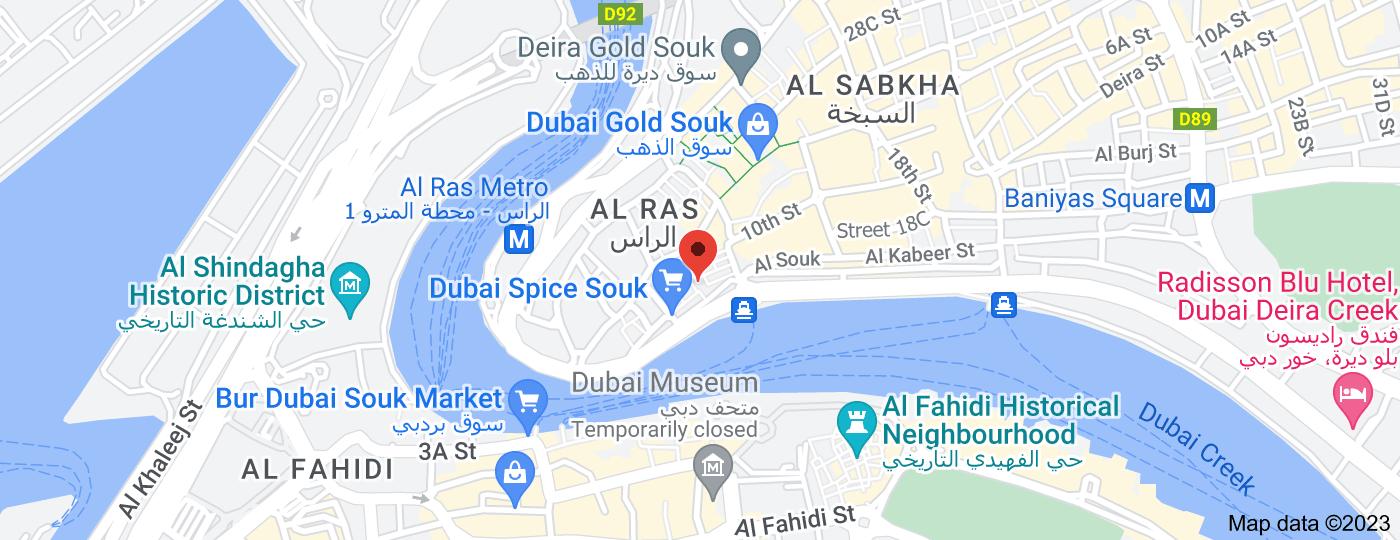 Location of Dubai Spice Souk