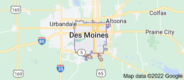 Map of Des Moines