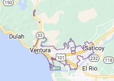 Map of Ventura, California