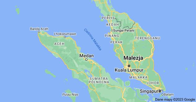Mapa: Cieśnina Malakka
