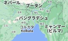 Location of バングラデシュ