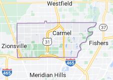 Map of Carmel, Indiana