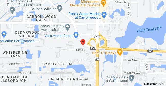 Map of 3750 Gunn Hwy, Tampa, FL 33618