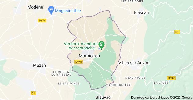 84570 Mormoiron: carte