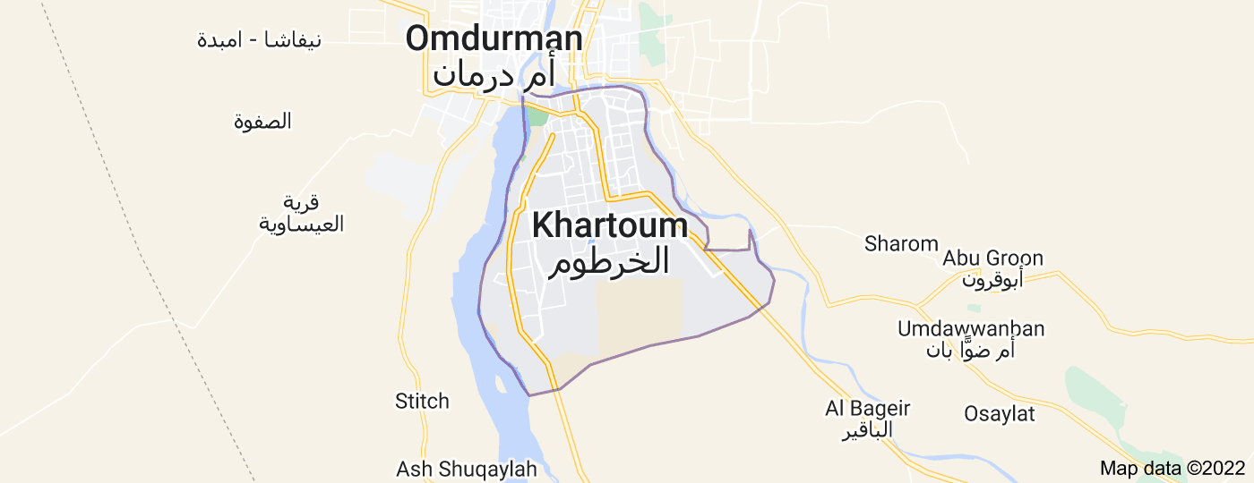 Location of Khartoum