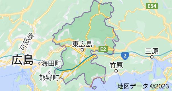 東広島市の地図
