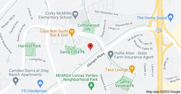 Map of 1431 Caminito Capistrano #1, Chula Vista, CA 91913