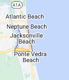 Map of Jacksonville Beach