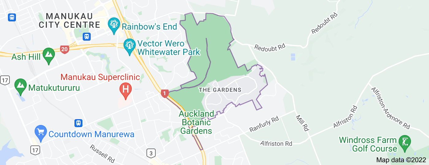 Location of The Gardens