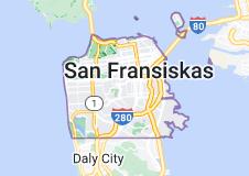 Location of San Fransiskas