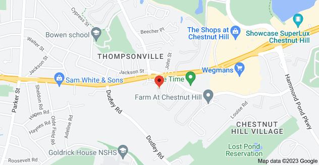 Map of 344 Boylston St, Newton, MA 02459