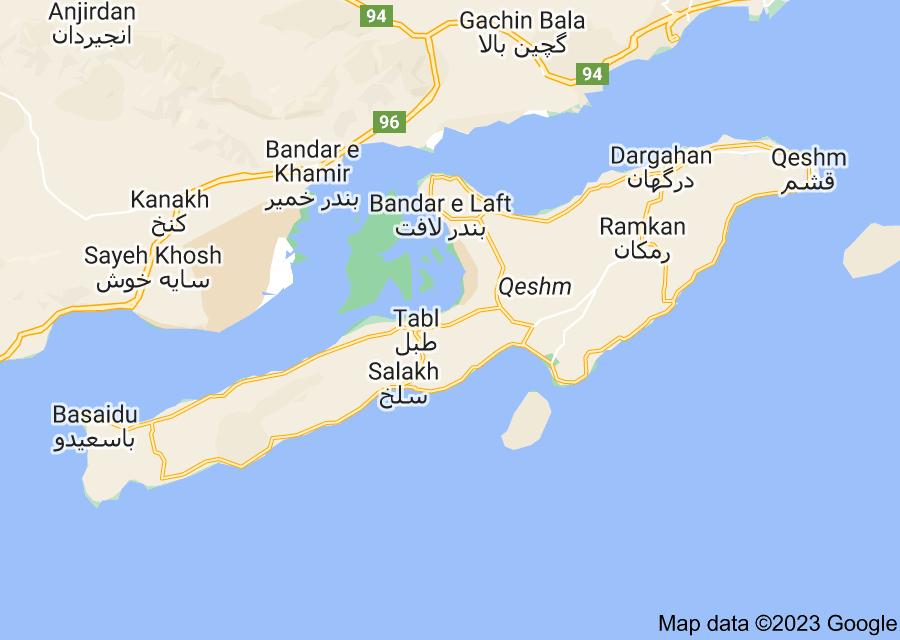 Location of Qeshm Island