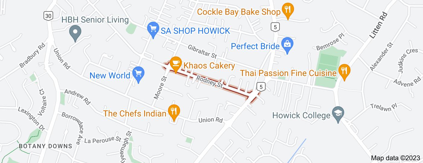 Location of Rodney Street