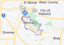 Map of Whittier, California