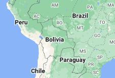 Location of Bolivia