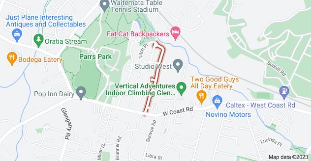 Location of Woodbank Drive