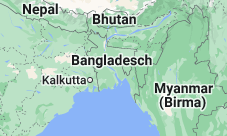 Location of Bangladesch