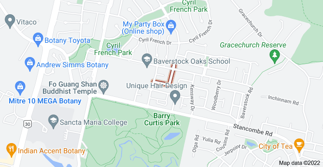 Location of Maypark Crescent