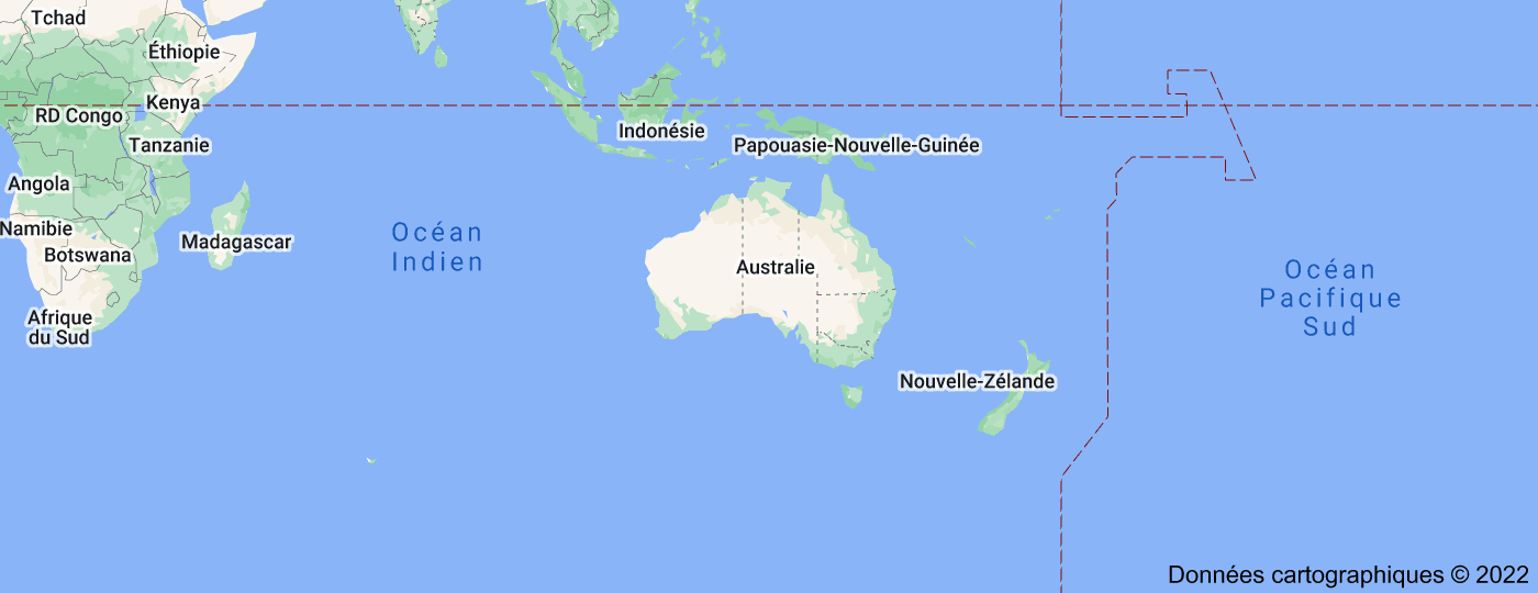 Location of Australie