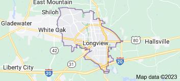 Map of Longview, Texas